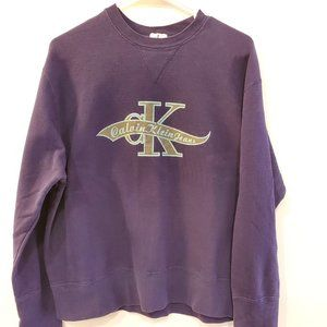 CALVIN KLEIN JEANS Vintage 90s Spell-Out Sweater L